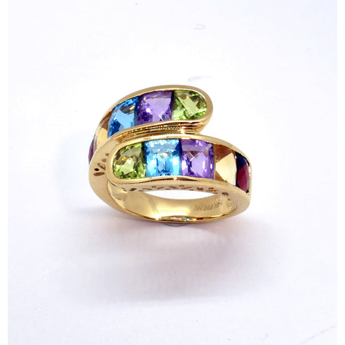 Multi-Color Topaz Ring