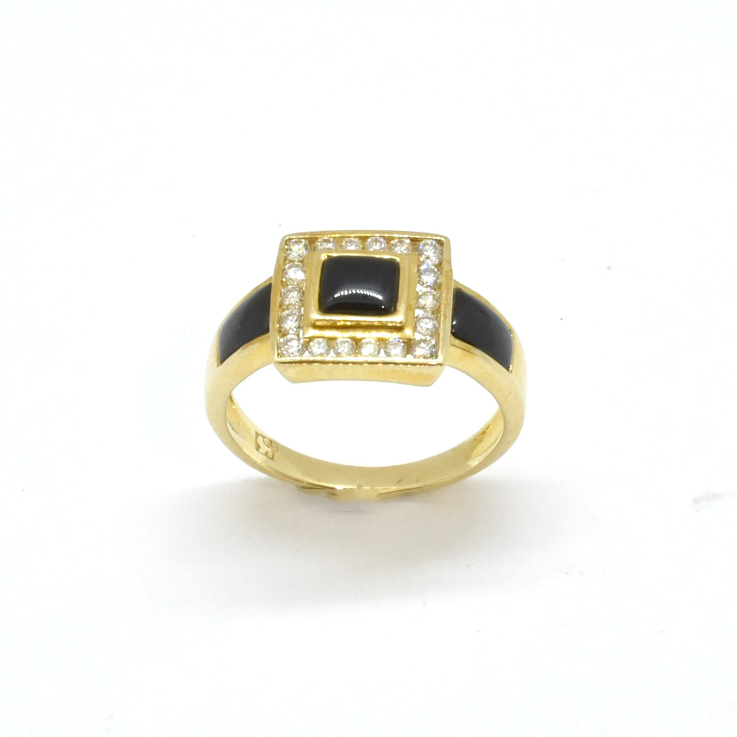 Buckle Onyx Ring