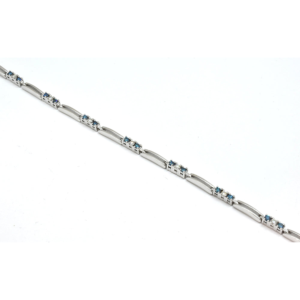 Simple Blue Diamond Bracelet