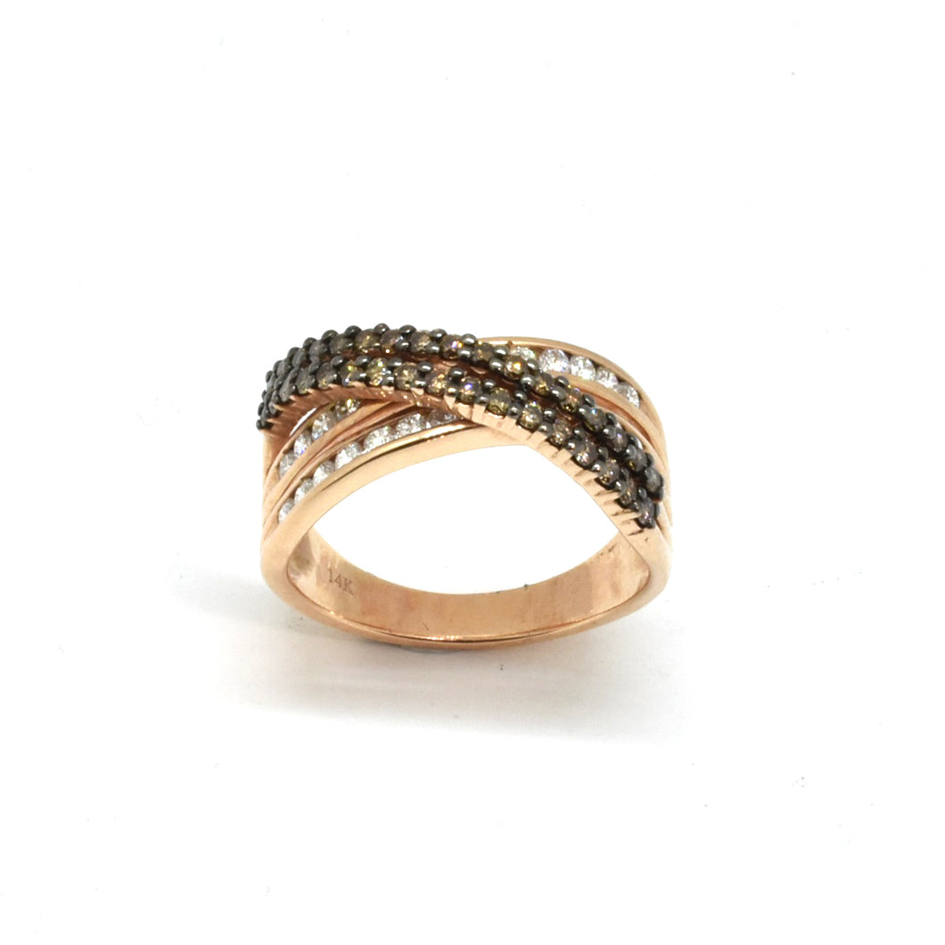 Infinity Brown Diamond Ring