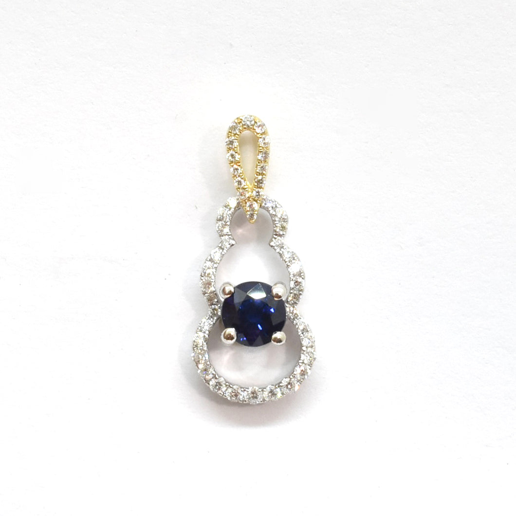 Mothers Touch Sapphire Pendant