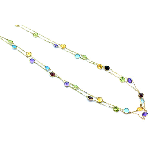 Multi-Color Topaz Necklace