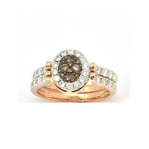 Cluster Brown Diamond Ring
