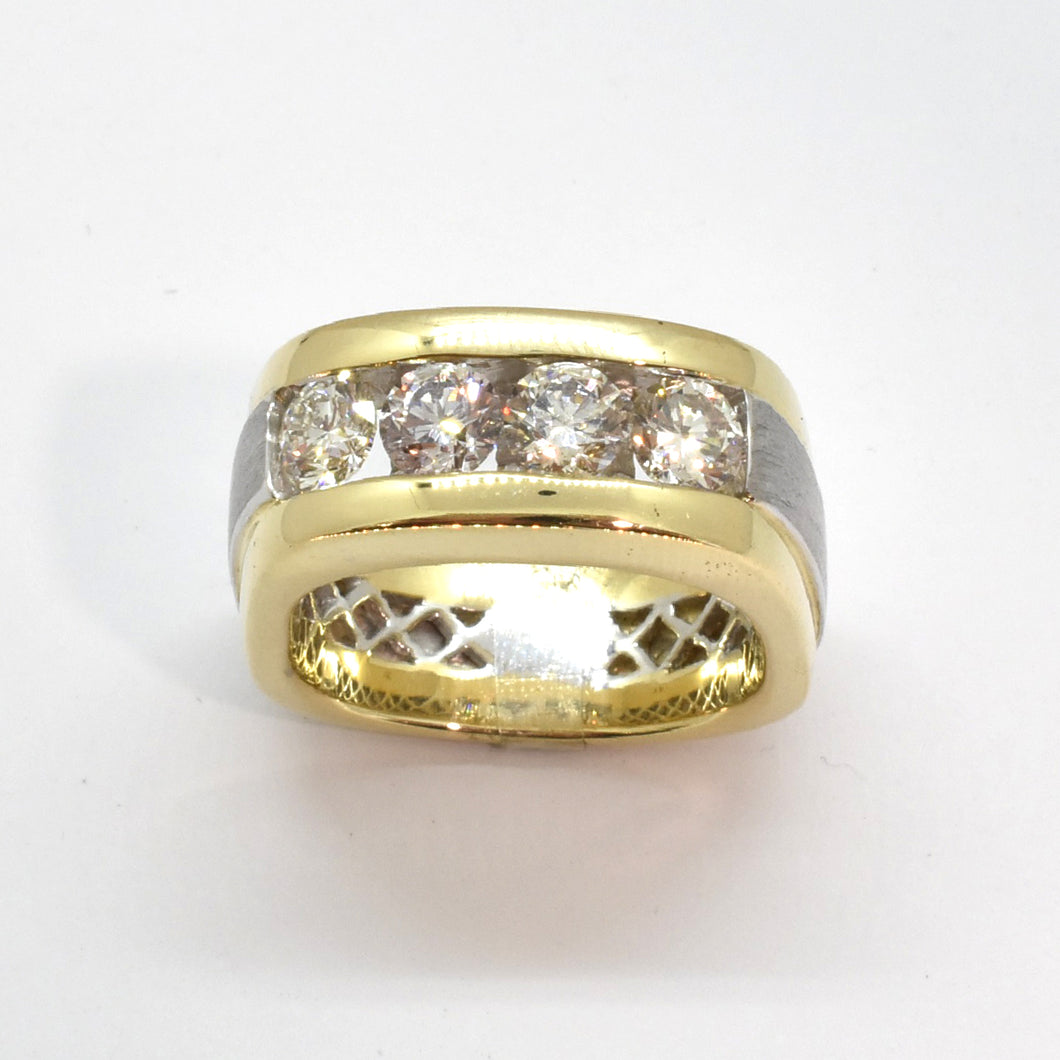 Mens 4 Stone Diamond Band