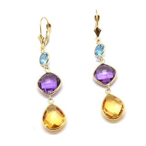 Muliti Color Topaz Earrings