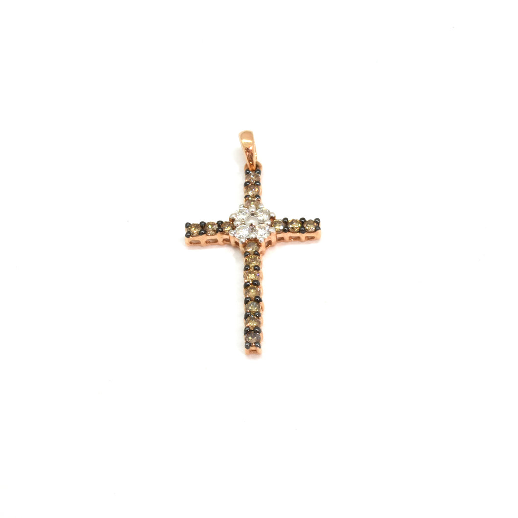 Brown Diamond Cross Pendant