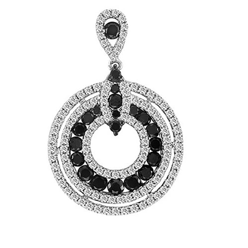BLACK AND WHITE DIAMOND PENDENT