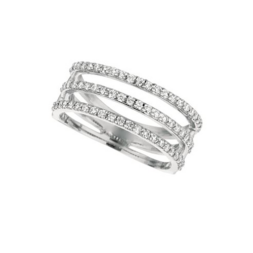 Three-Row Split Band Ring