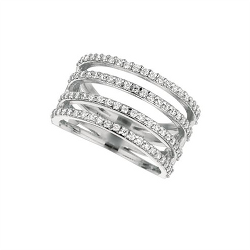 Four-Row Split Band Ring