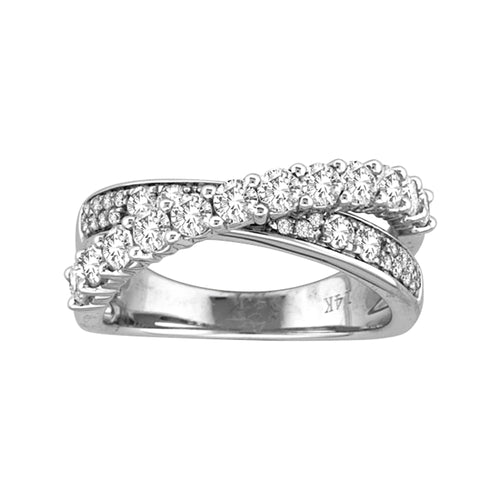 DIAMOND CRIS-CROSS RING