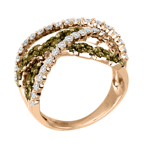 and inspired solitaire natural gold engagement star brown diamond rose harriet palladium kelsall shooting rings chocolate