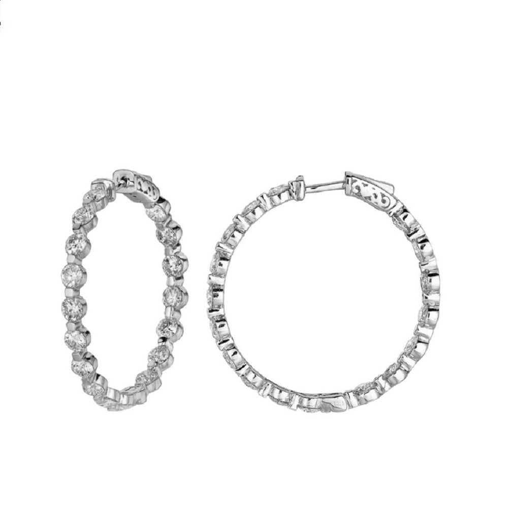 ROUND SHAPE DIAMOND HOOPS