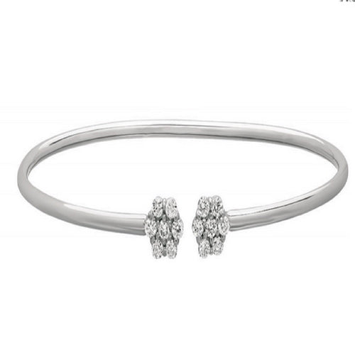 FLOWER DESIGN DIAMOND BANGLE