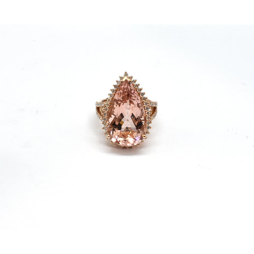 MORGANITE AND DIAMOND RING 31908