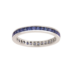 CHANNEL SET ETERNITY SAPPHIRE RING