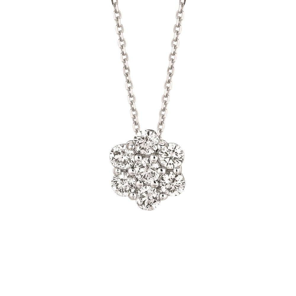 FLOWER DIAMOND NECKLACE