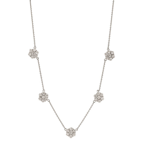 MULTI FLOWER DIAMOND NECKLACE