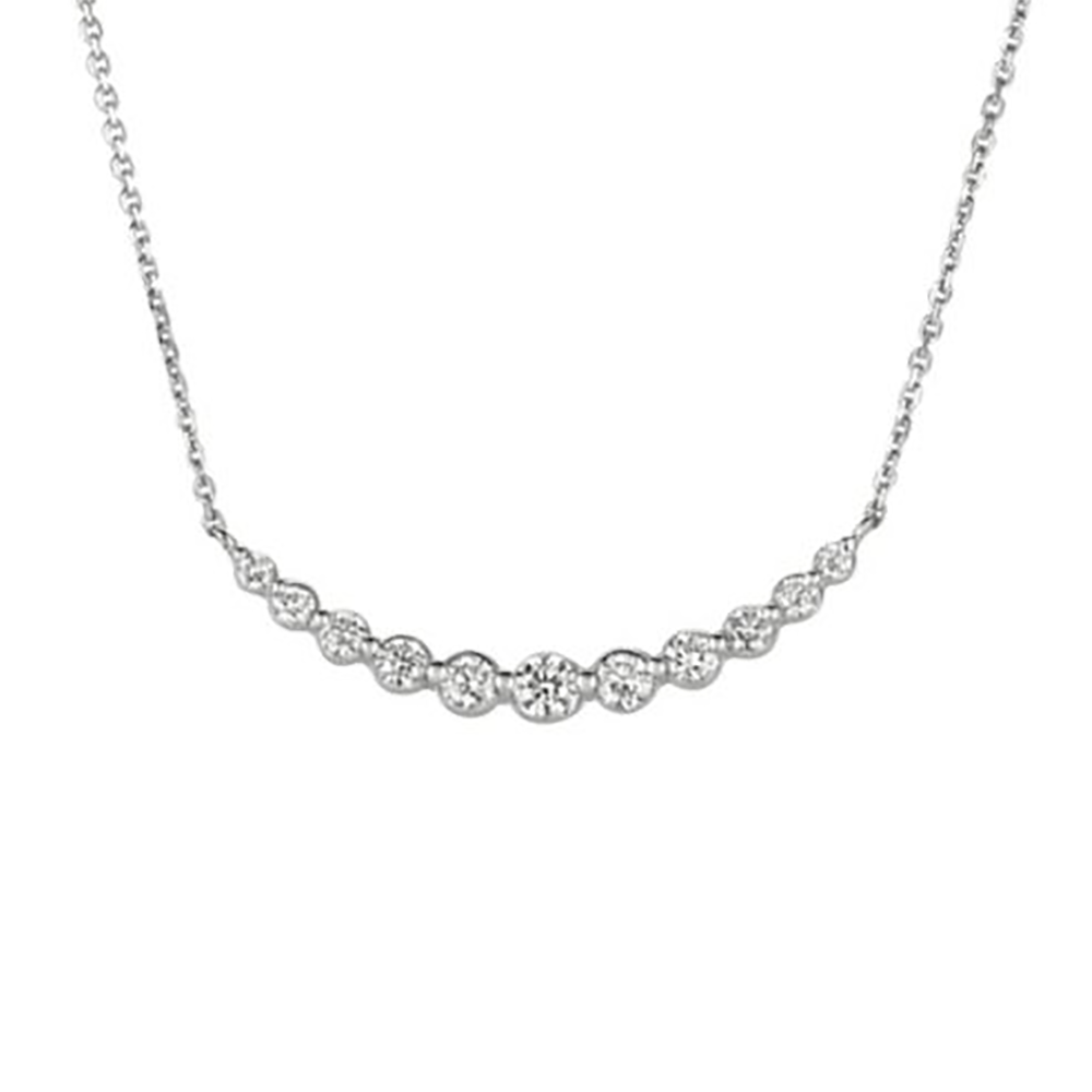 White Gold Chain Pendant Necklace