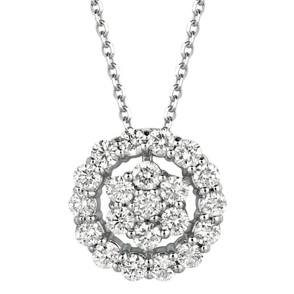 White Gold Openwork Pendant Necklace