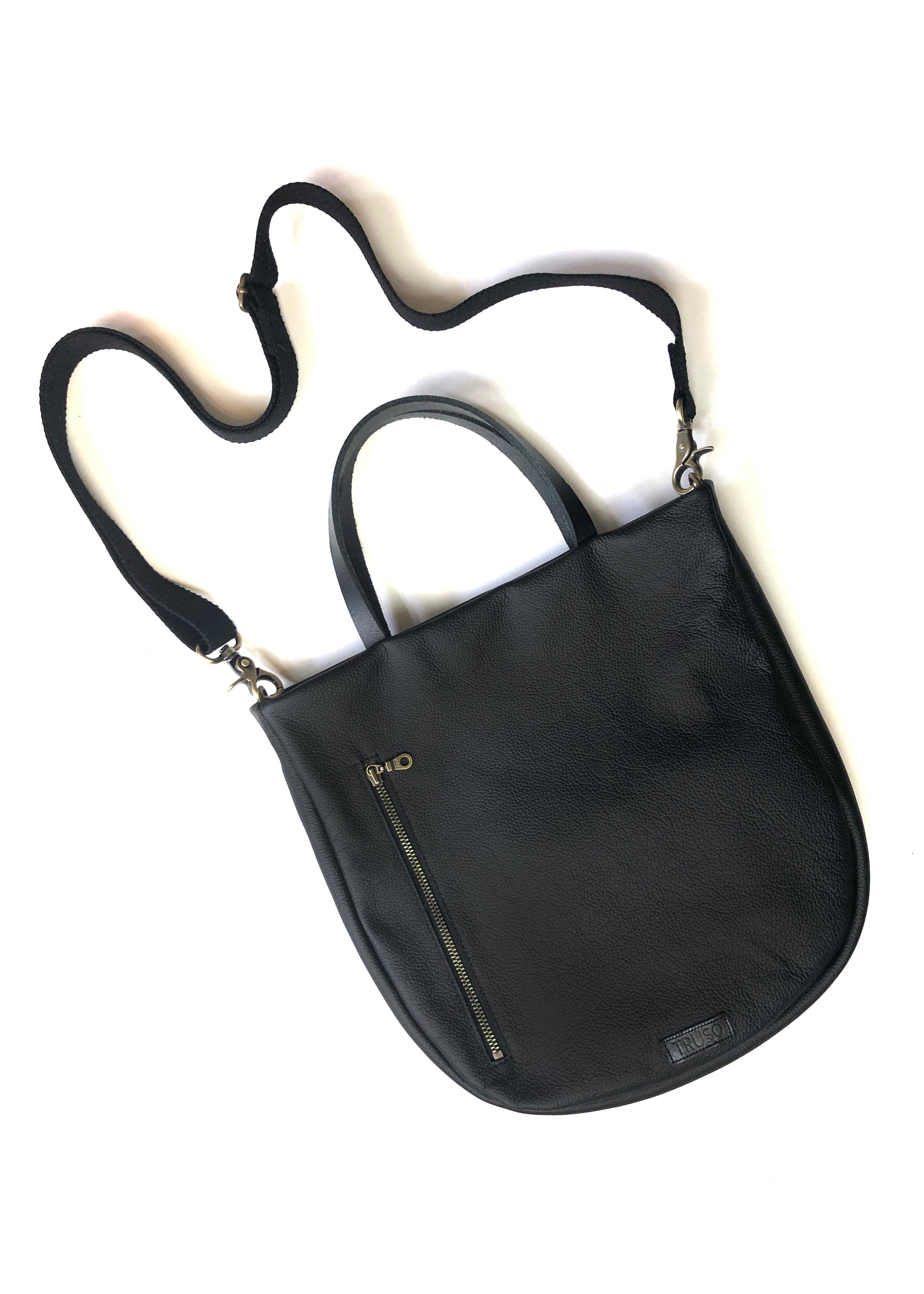 Toting Tote In Black Suede