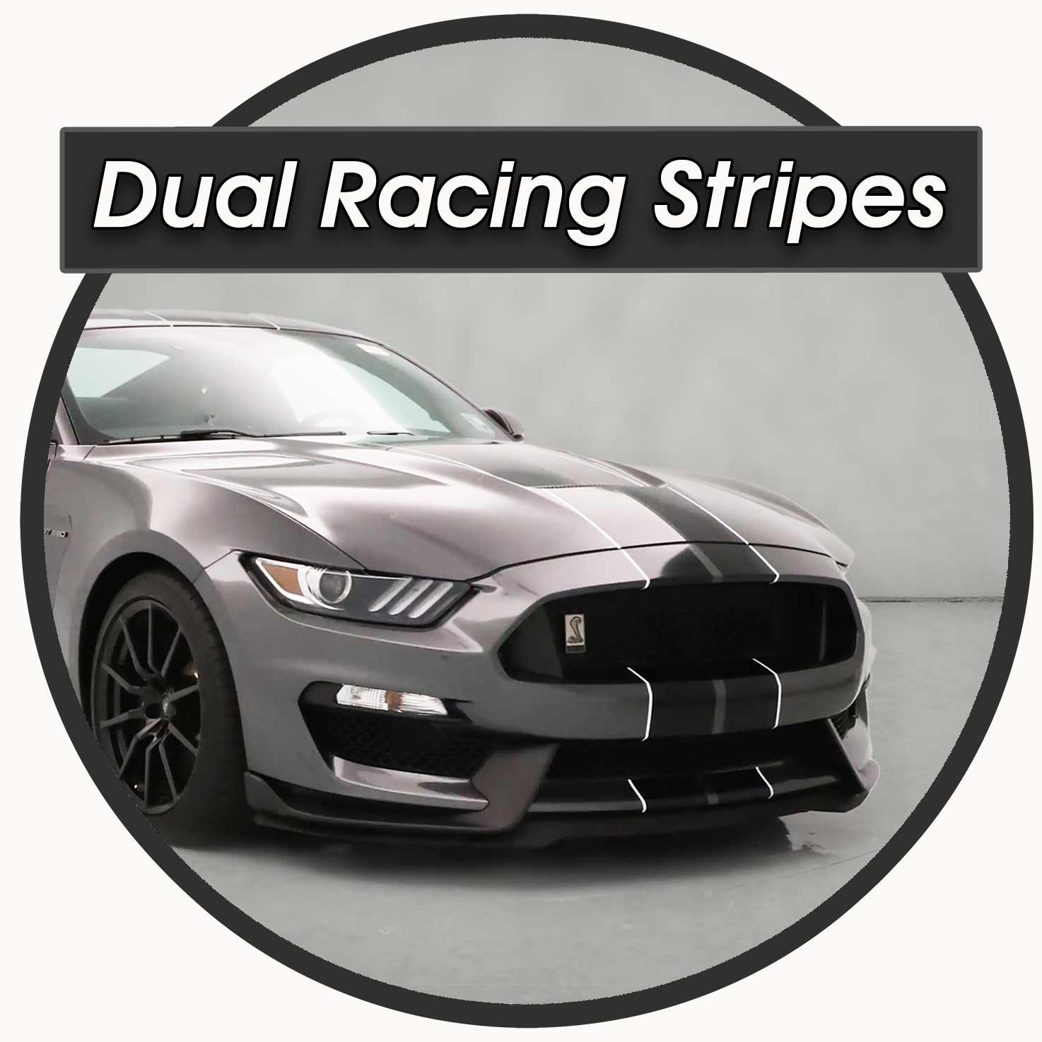 Shelby GT350 Mustang with Dual Racing Stripes pre-cut