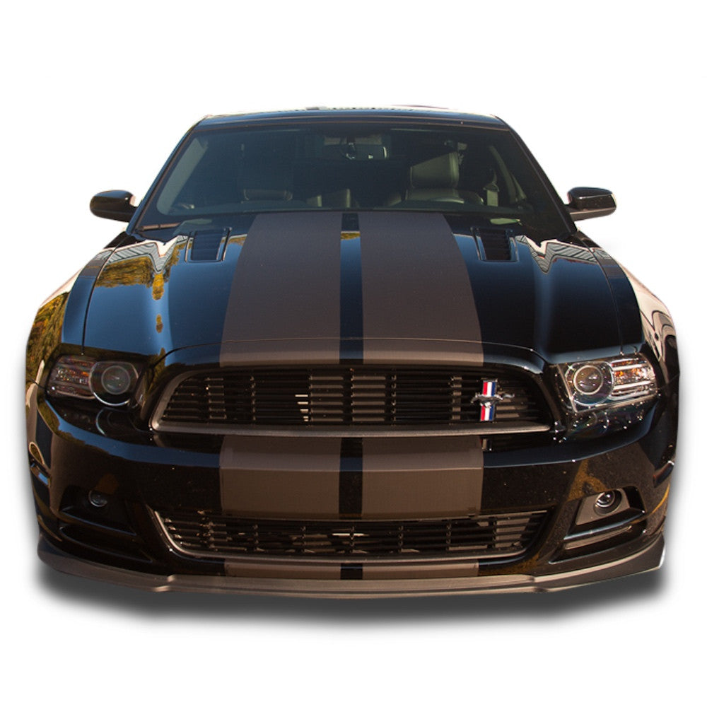 Matte glossy white or black 2013 2014 mustang dual racing rally stripe 8