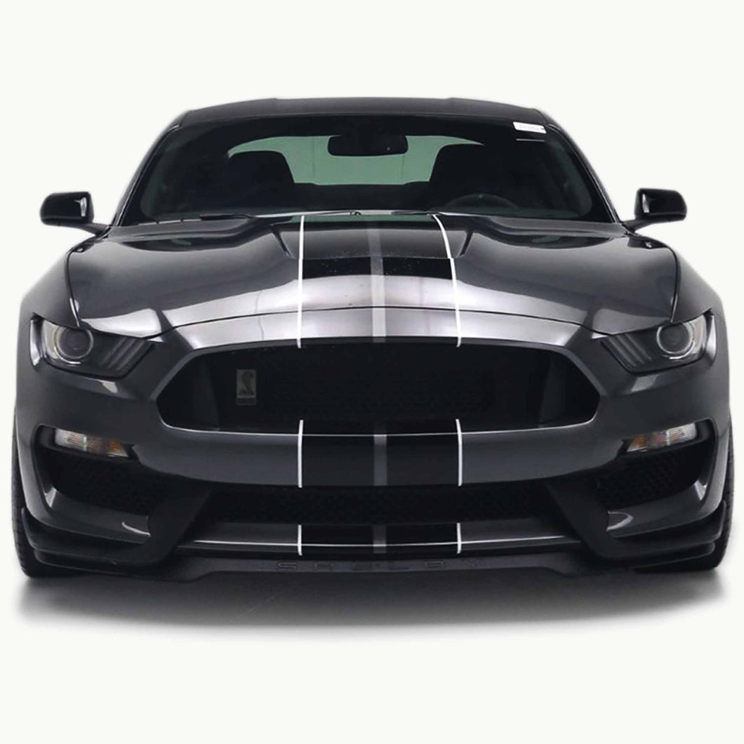 Shelby GT350 Racing Stripes with Optional Pinstriping (2016, 2017, 2018, 2019, or 2020)