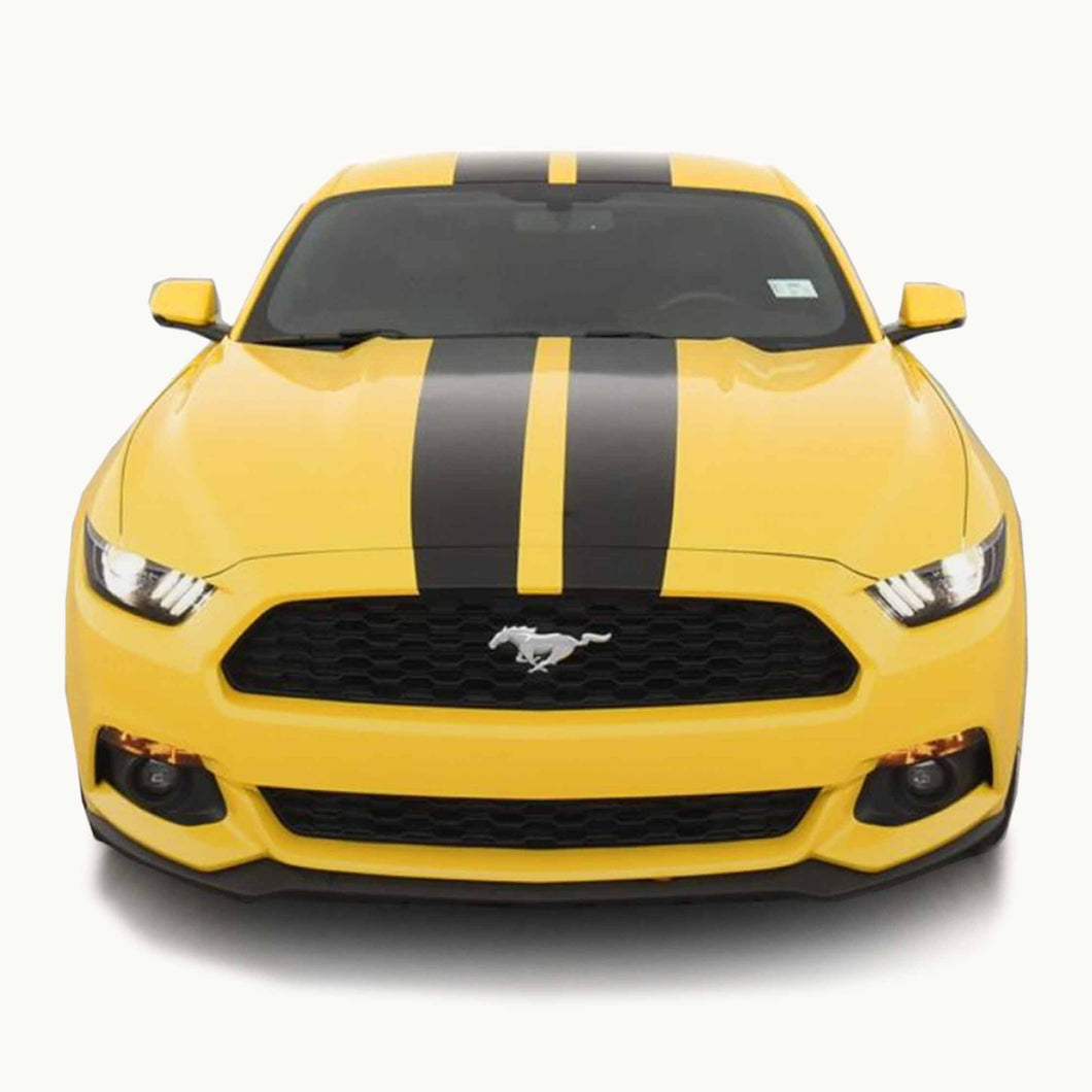 Tapered Racing Stripes for a 2015, 2016, or 2017 Mustang