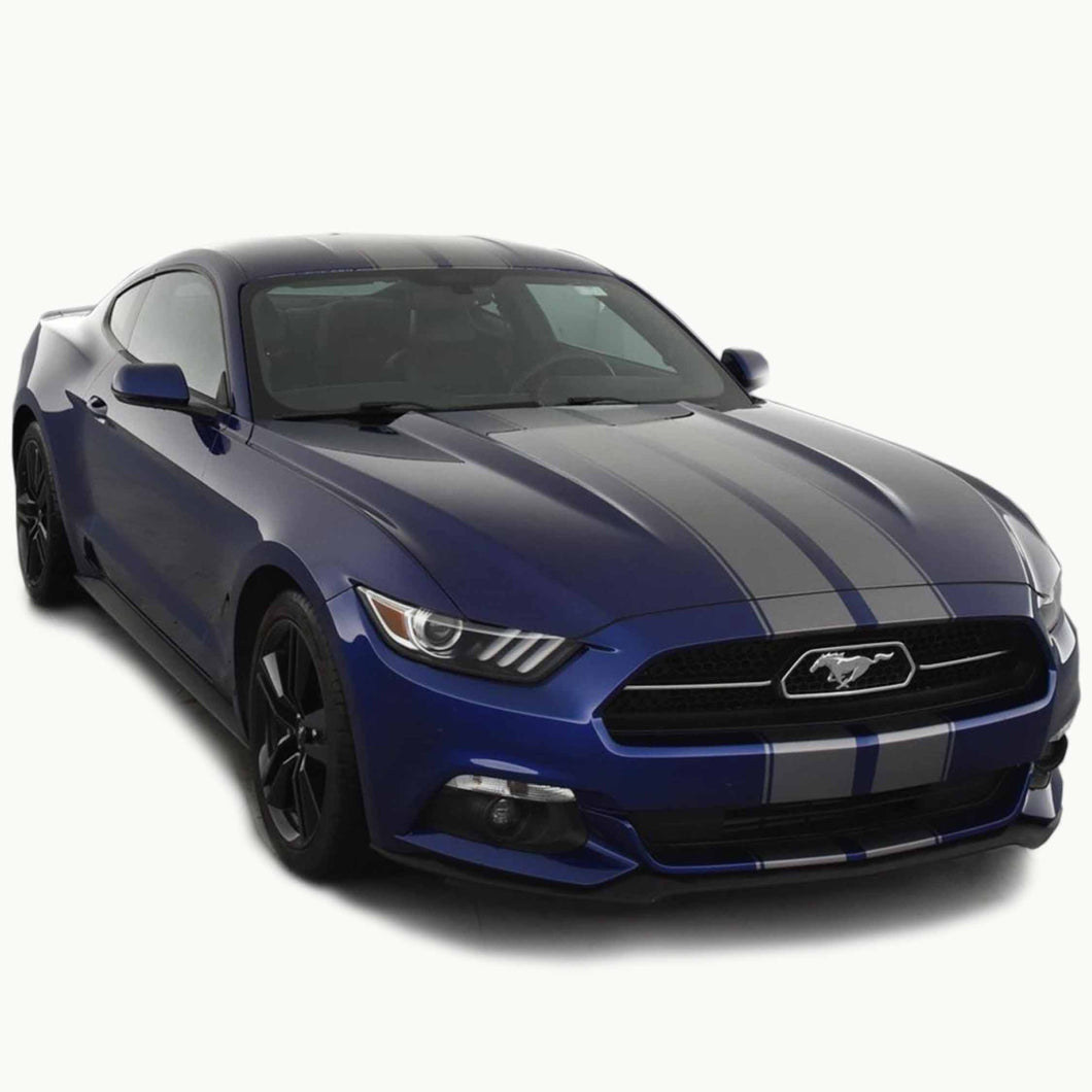 Racing Stripes with Pinstripes for a 2015, 2016, or 2017 Mustang