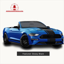 OEM 2018 Mustang Pre-Cut Center Stripe with Matching Pinstripe: FULL KIT (Matte/Glossy Black/White)