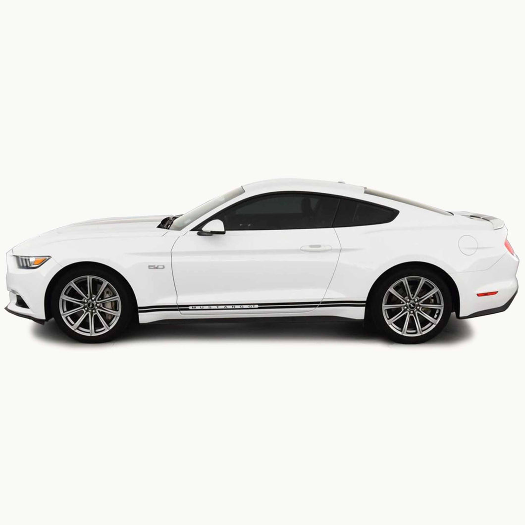 Mustang Dual Rocker Side Stripes (2013-2021)
