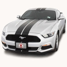 Matte Black Racing Stripes with Pinstripes for a 2015, 2016, or 2017 Mustang