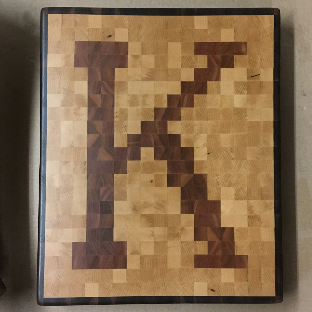 Monogram Pixel Cutting Board