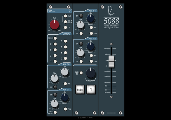 Rupert Neve Designs 5088 Input Channel recall module for the Patchrat app