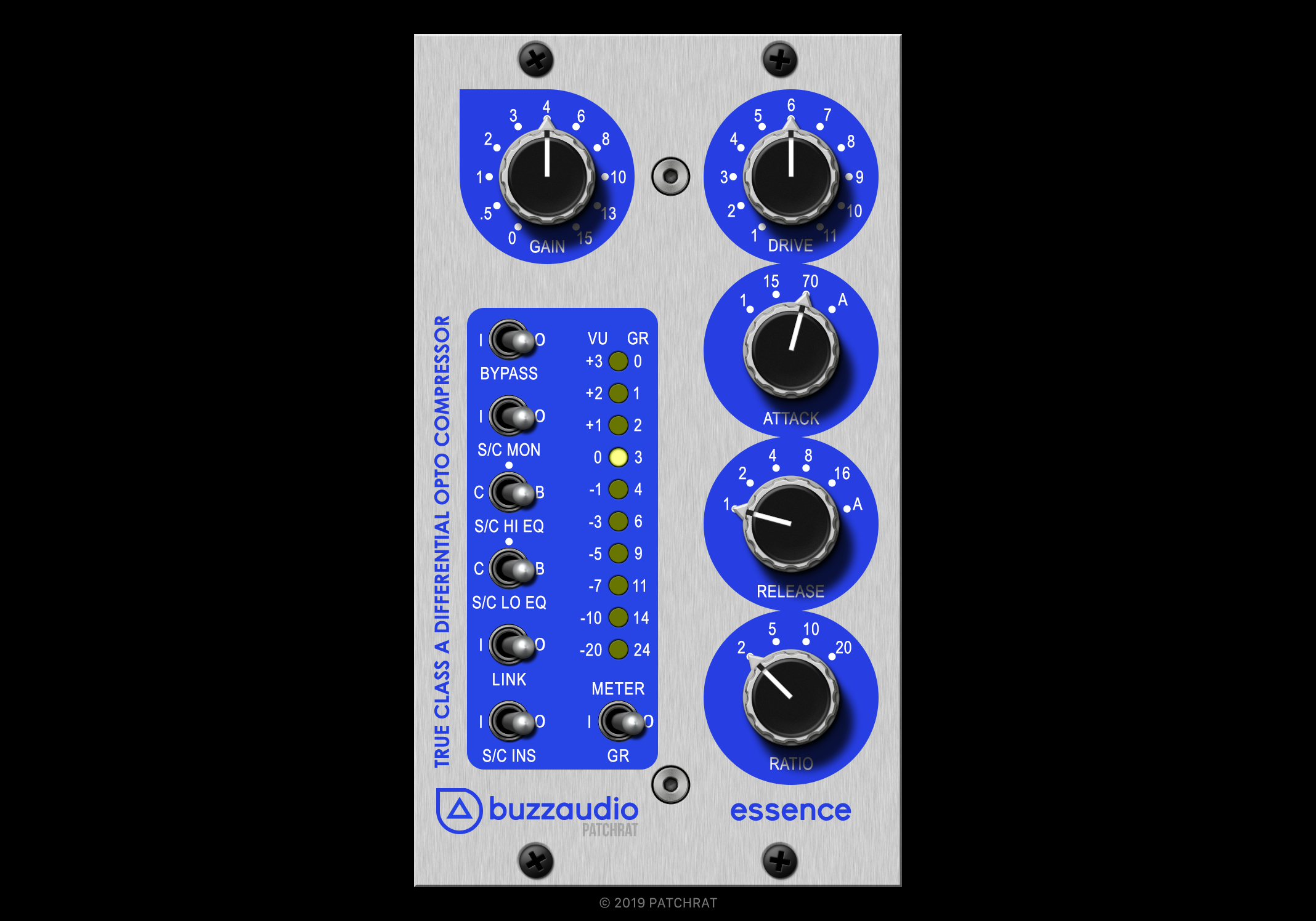 Buzz Audio Essence recall module for the Patchrat app
