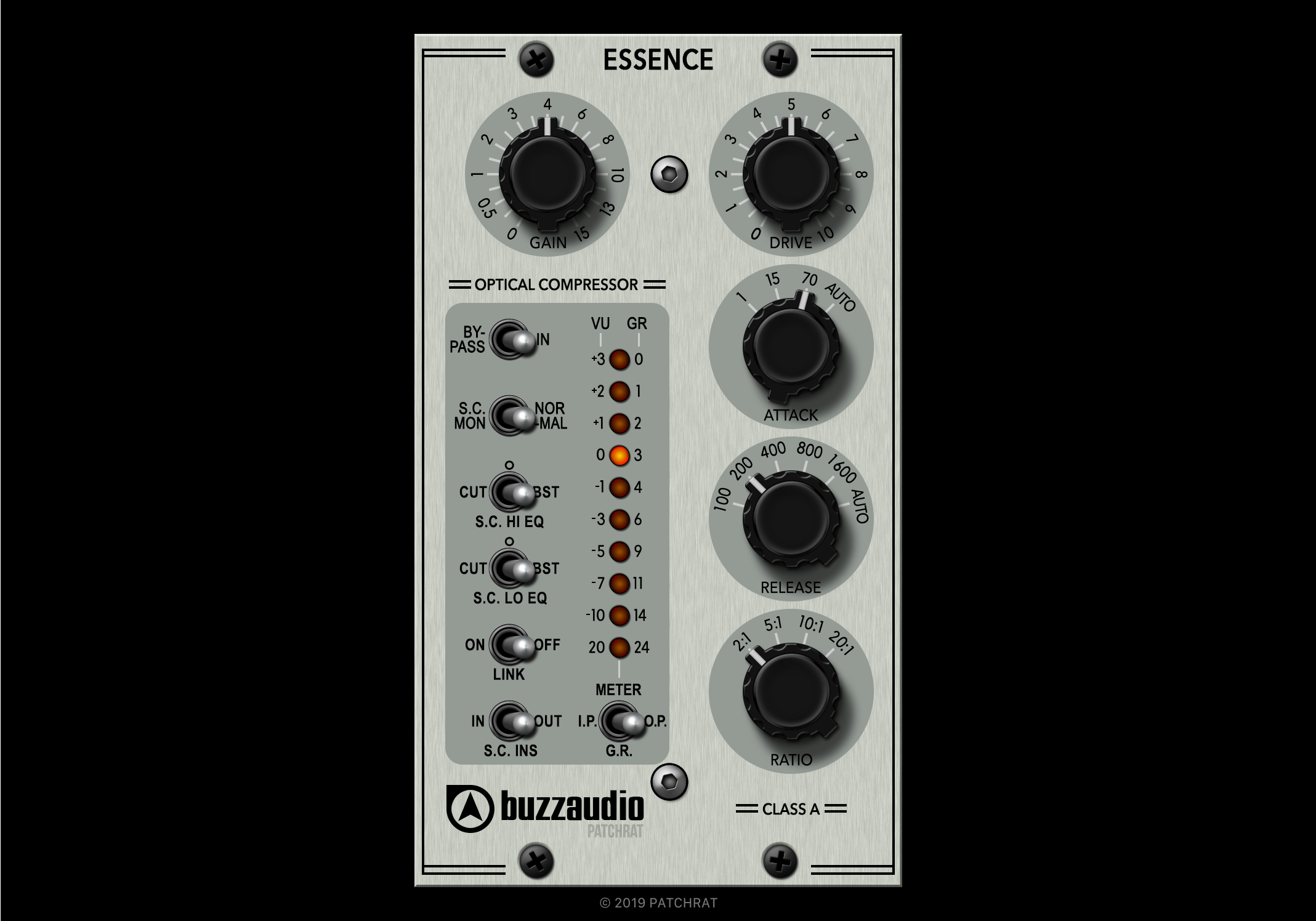 Buzz Audio Essence v2 recall module for the Patchrat app