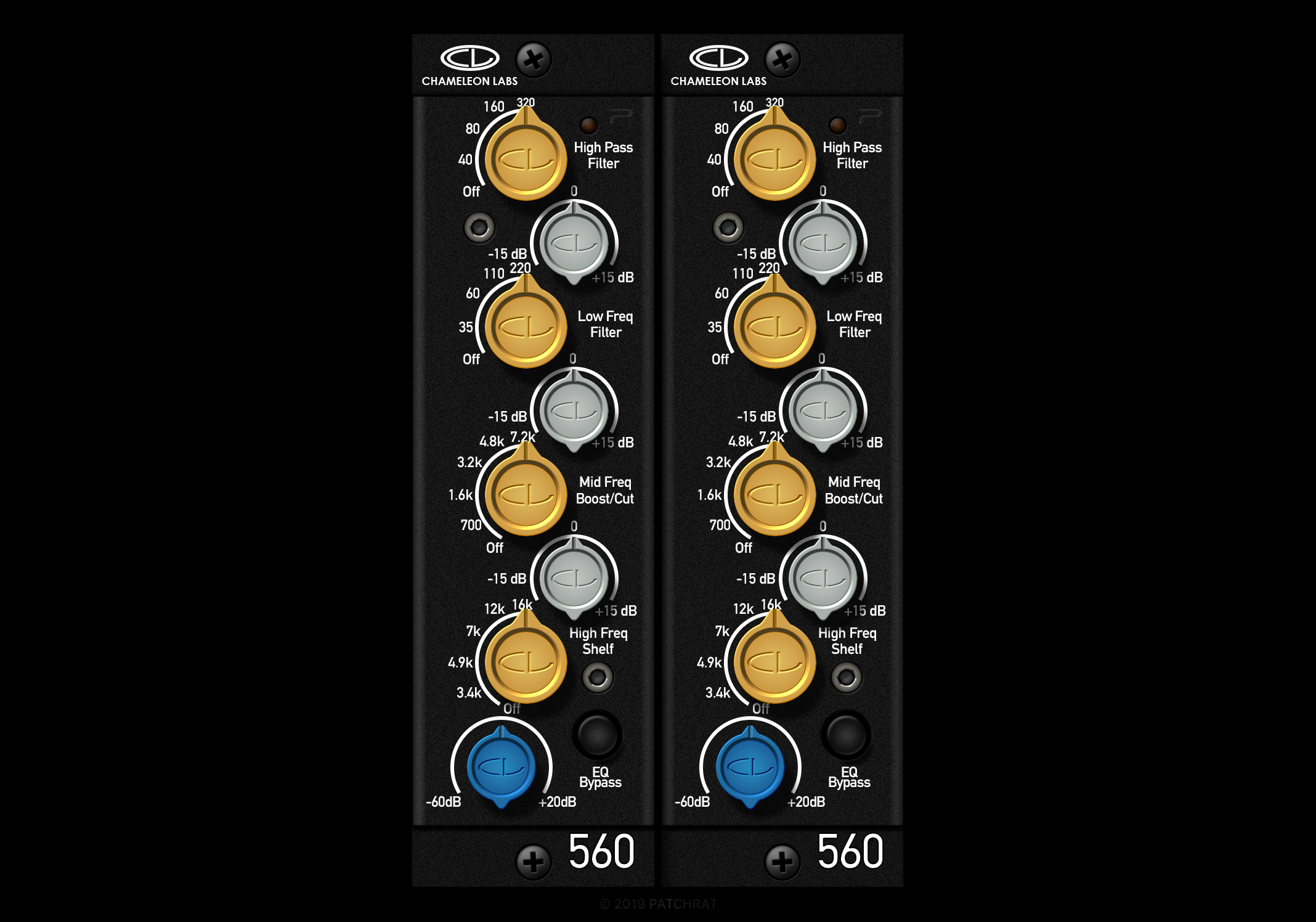 Chameleon Labs 560EQ recall module for the Patchrat app