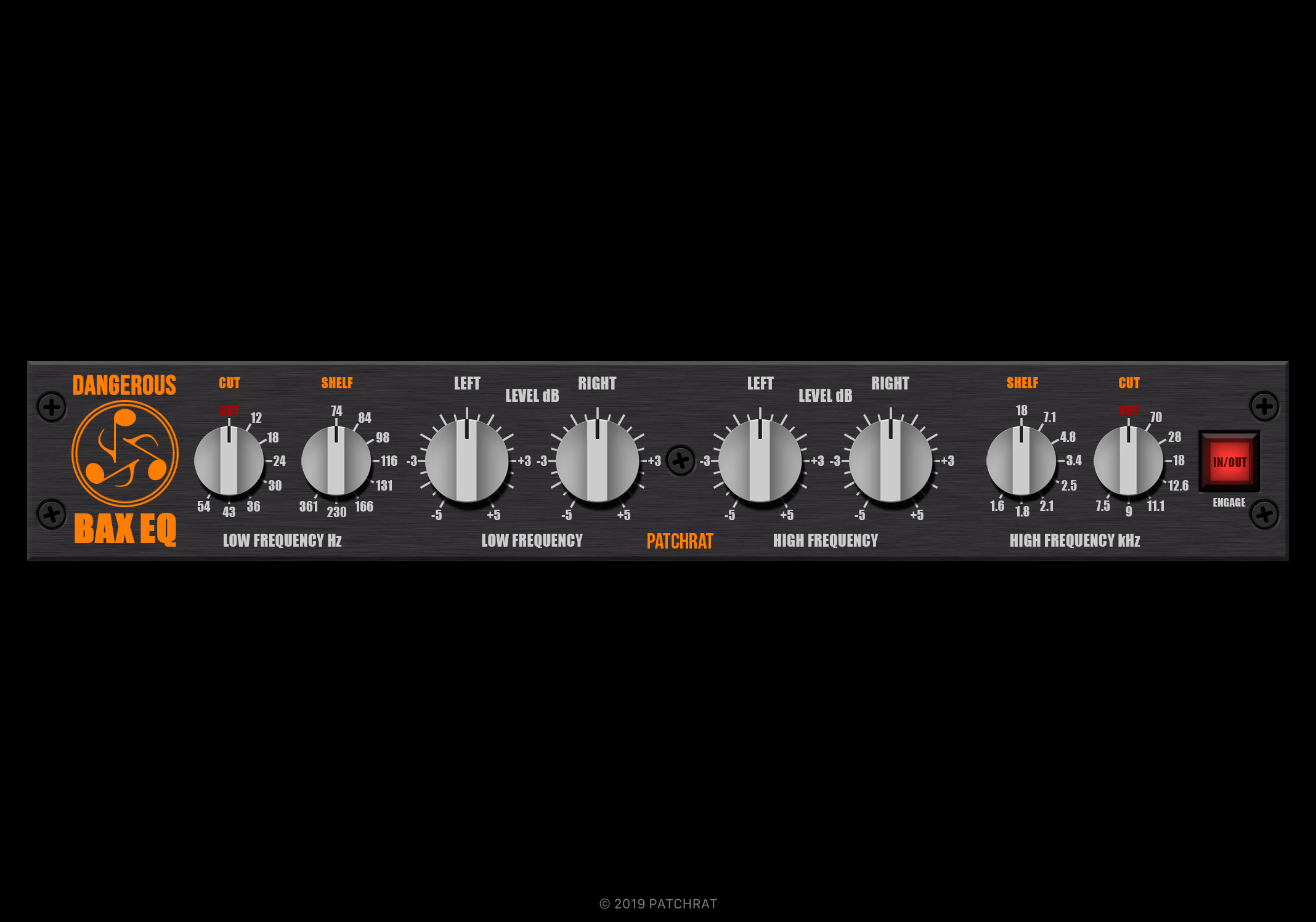 Dangerous Music BAX EQ recall module for the Patchrat app