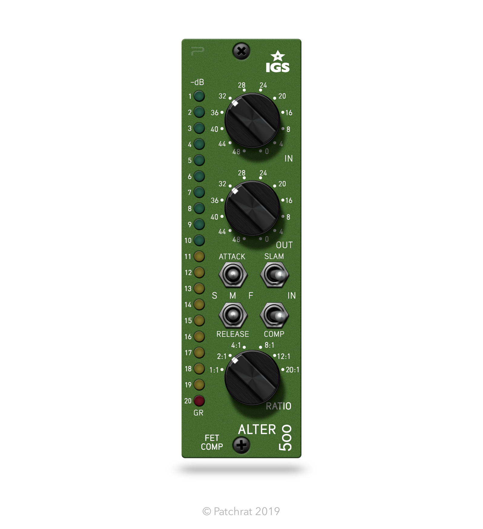 The IGS Audio Alter 500 recall module is now available for the Patchrat app.