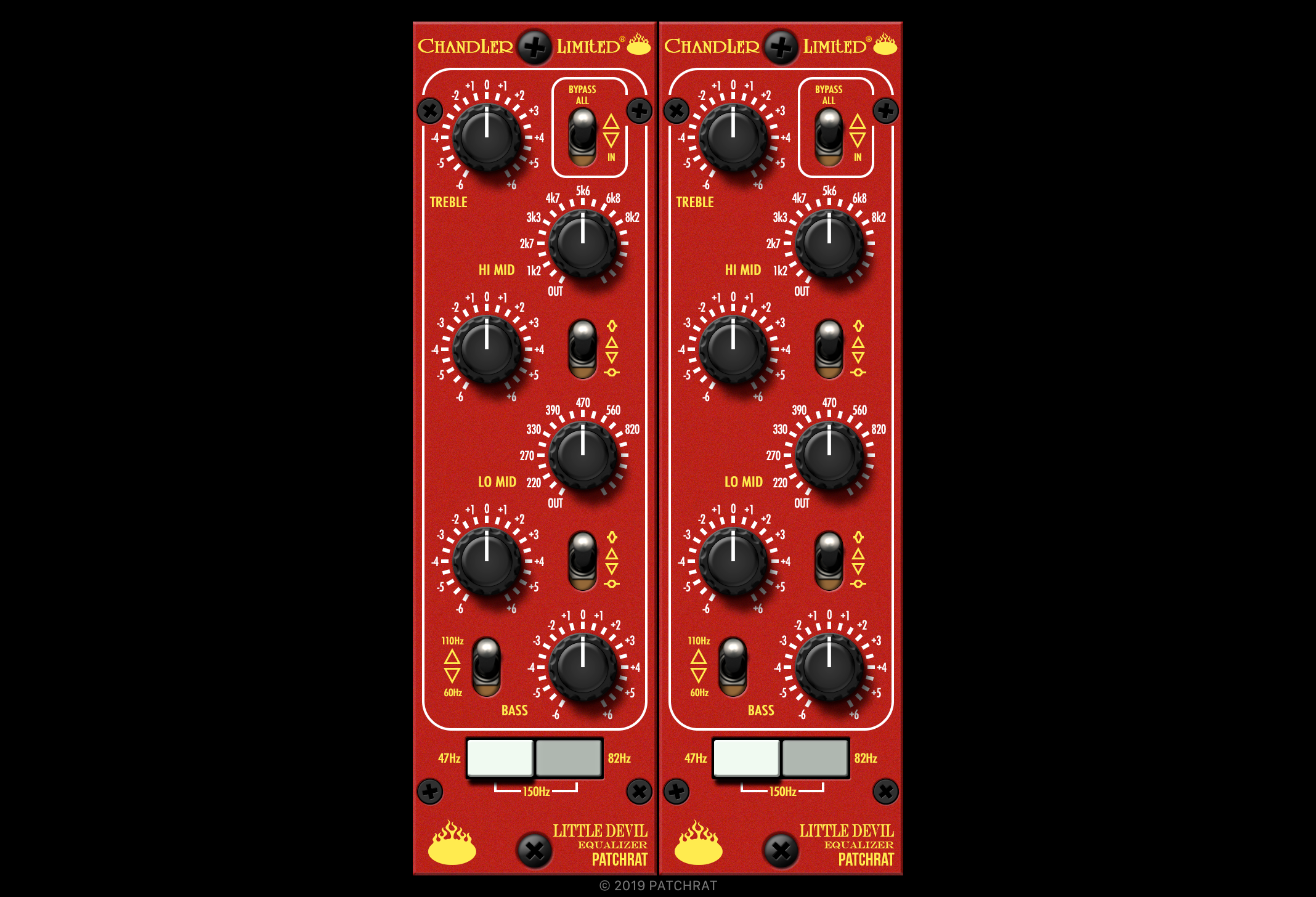 Chandler Limited Little Devil Equalizer recall module for the Patchrat app