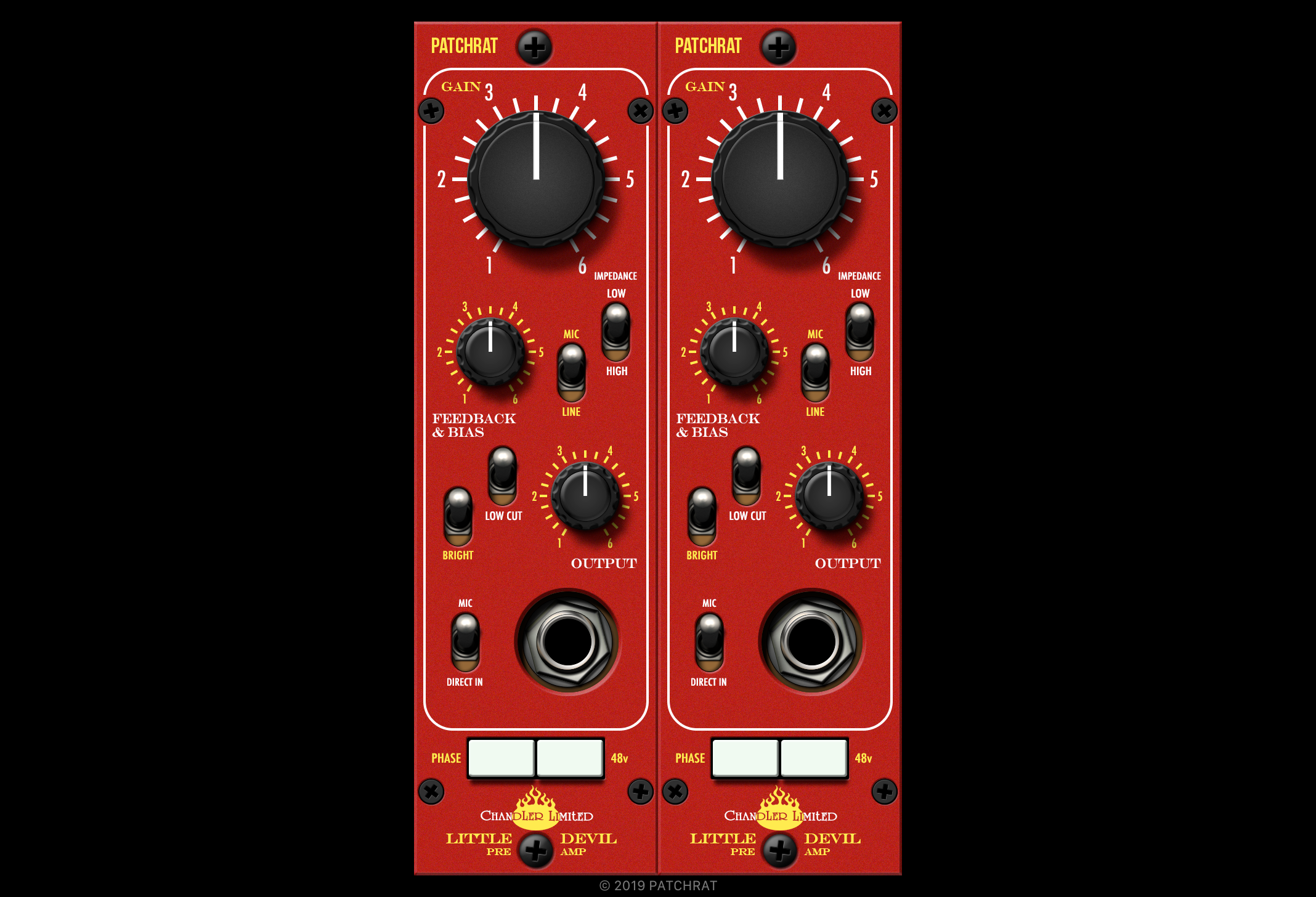 Chandler Limited Little Devil Preamp recall module for the Patchrat app