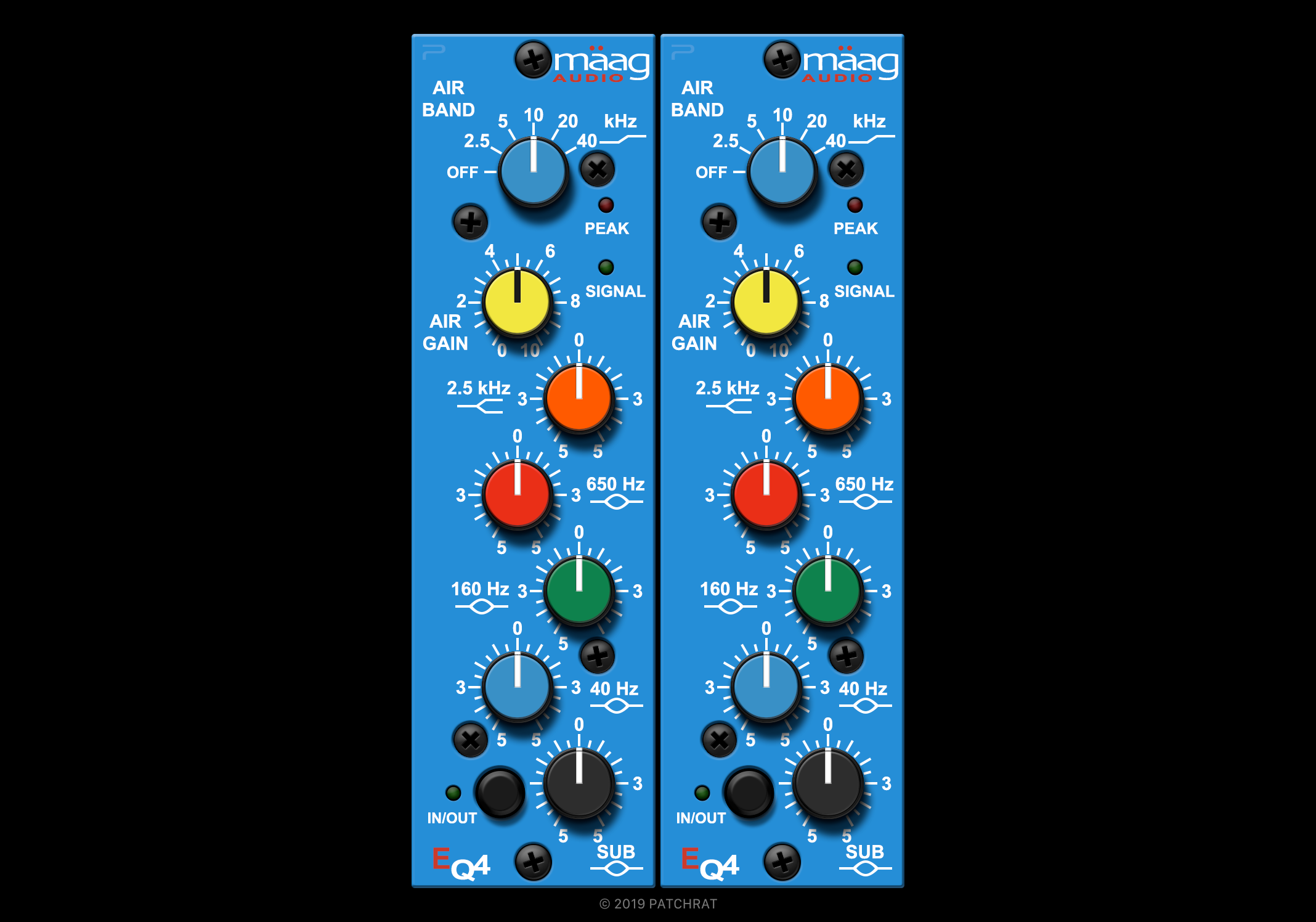 Maag Audio EQ4 recall module for the Patchrat app