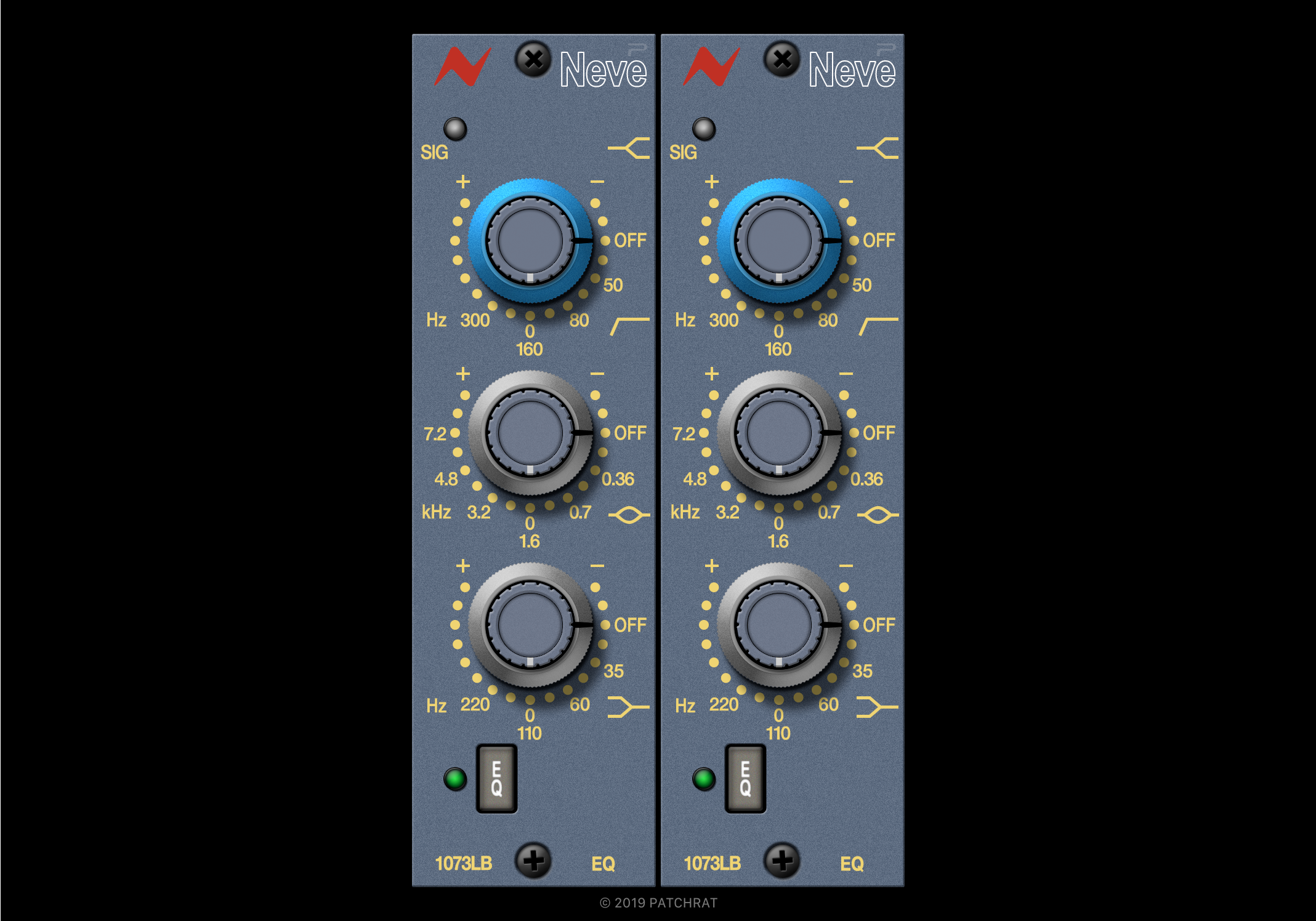 Neve 1073LB EQ recall module for the Patchrat app