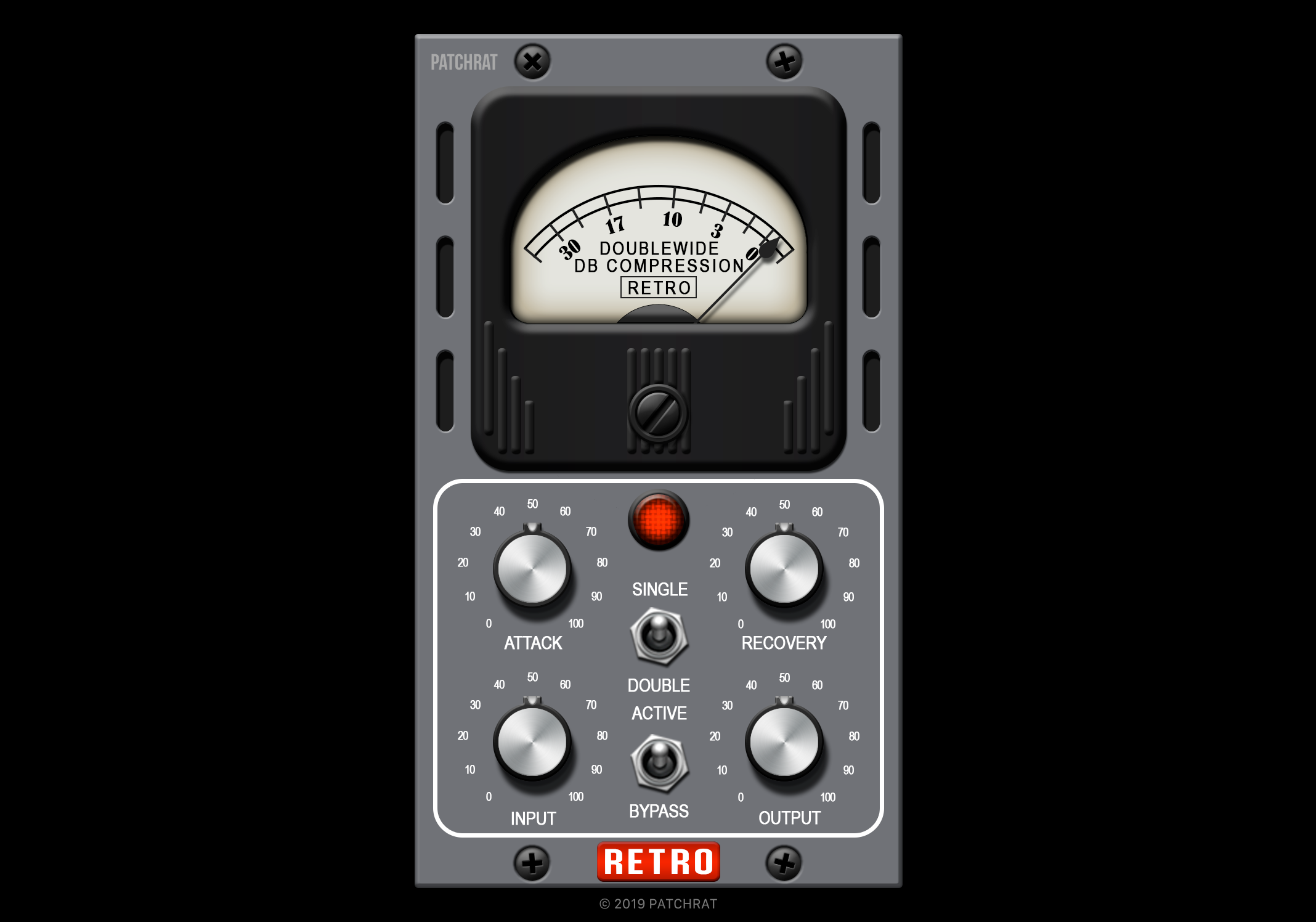 Retro Instruments Doublewide recall module for the Patchrat app