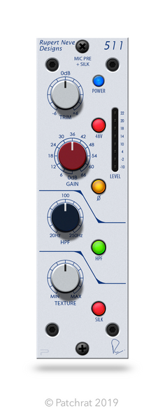 Rupert Neve Designs 511 recall module for the Patchrat app