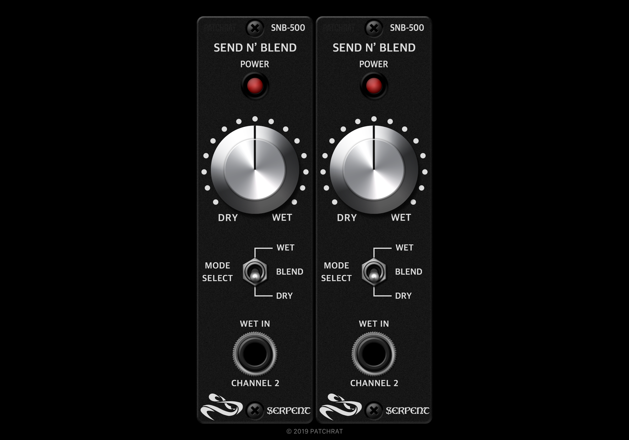 Serpent Send N' Blend SNB-500 recall modules for the Patchrat app