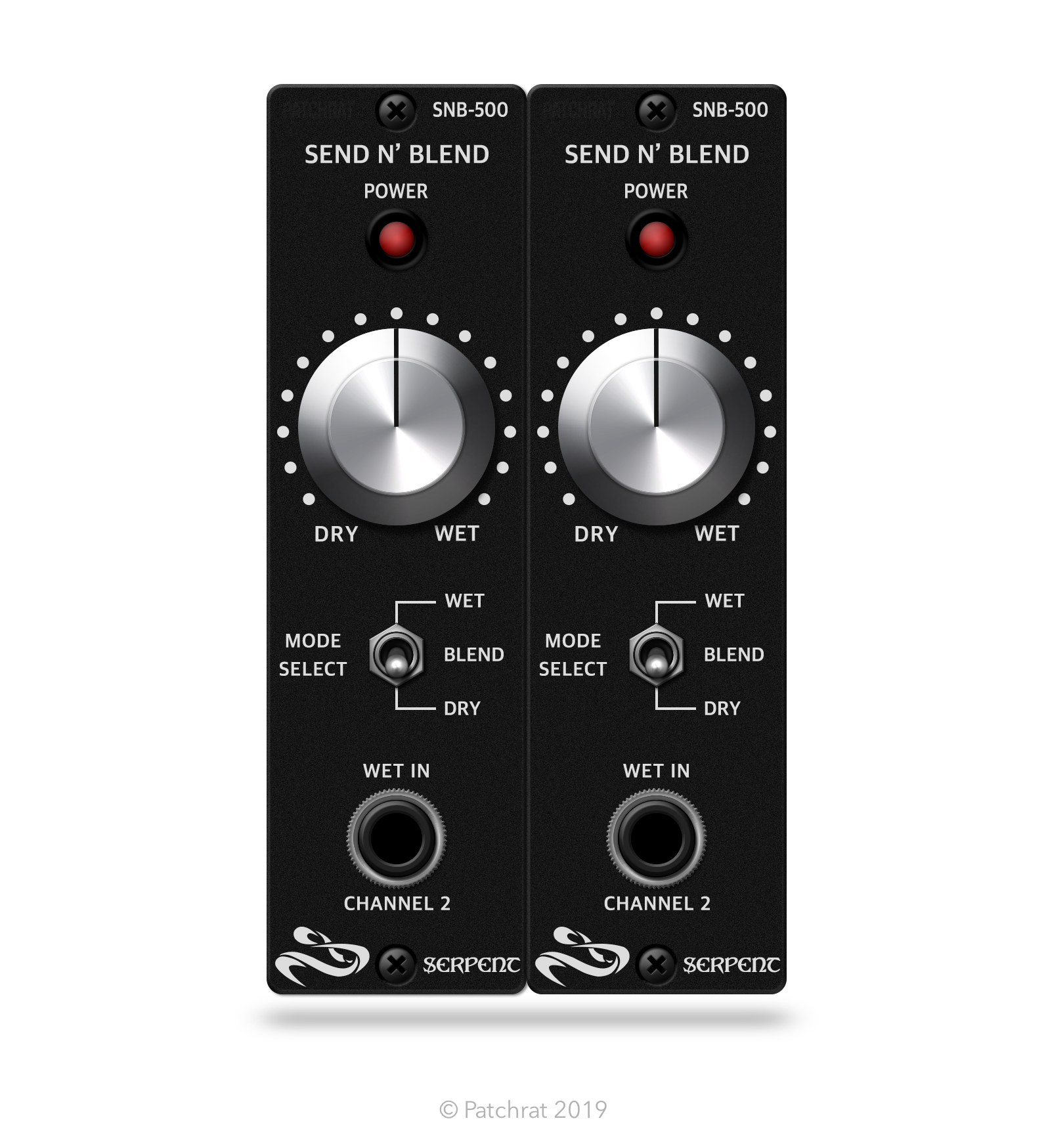 Serpent Audio SNB-500 Send n' Blend (Pair) recall module for the Patchrat app