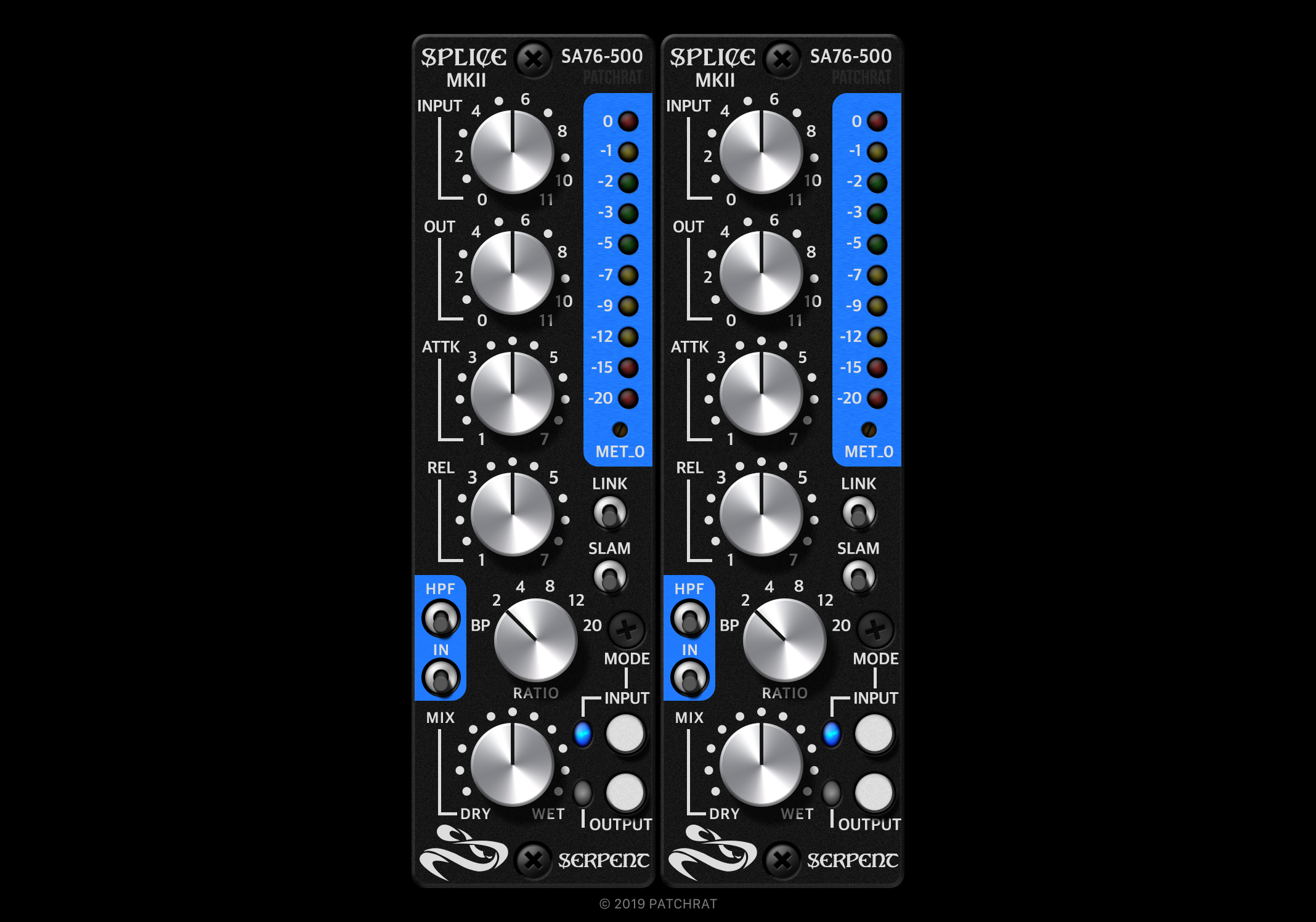 Serpent Audio Splice MKII SA76-500 recall module for the Patchrat app