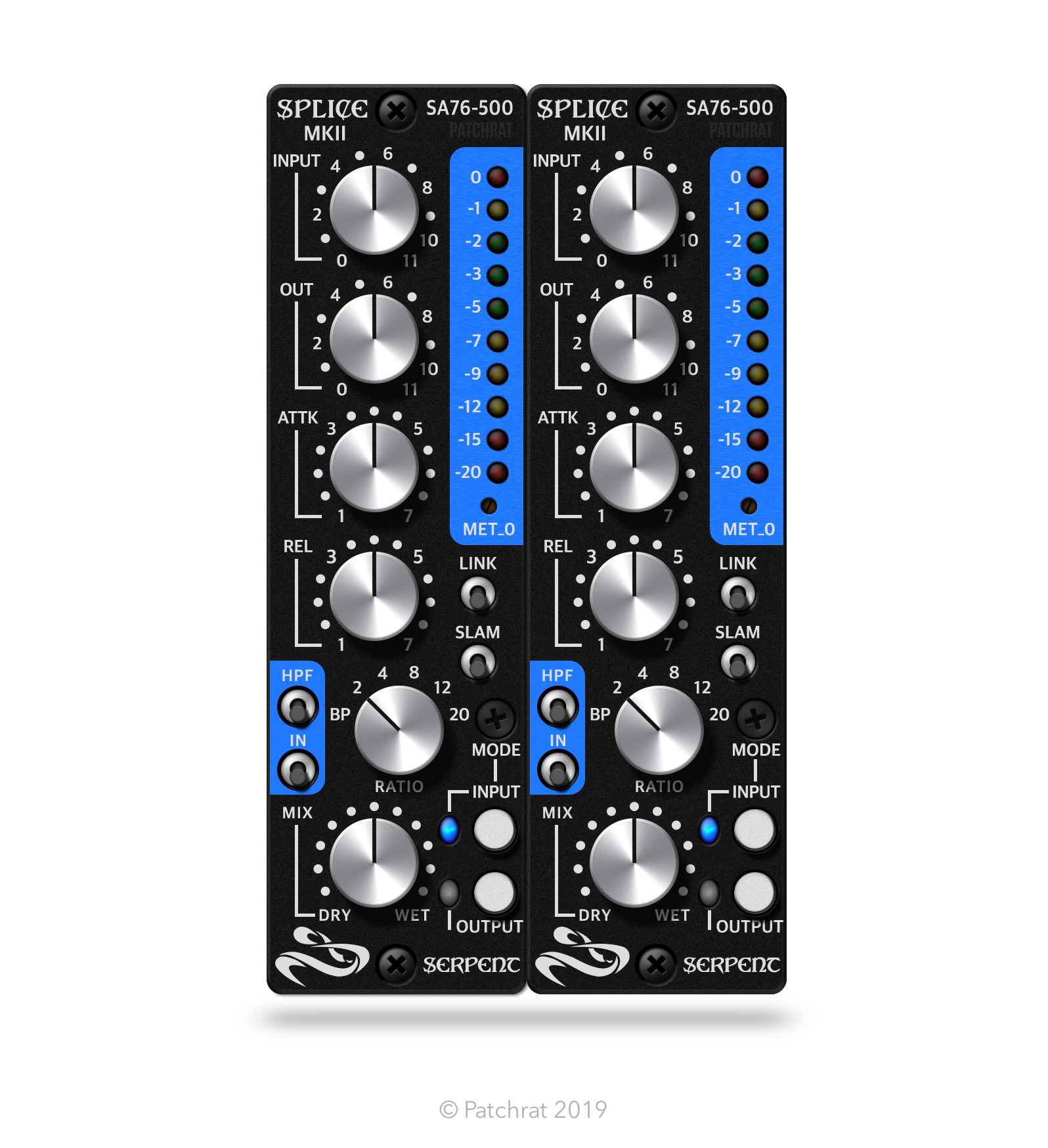 Serpent Audio SA76-500 Splice MKII (Pair) recall interface for the Patchrat app