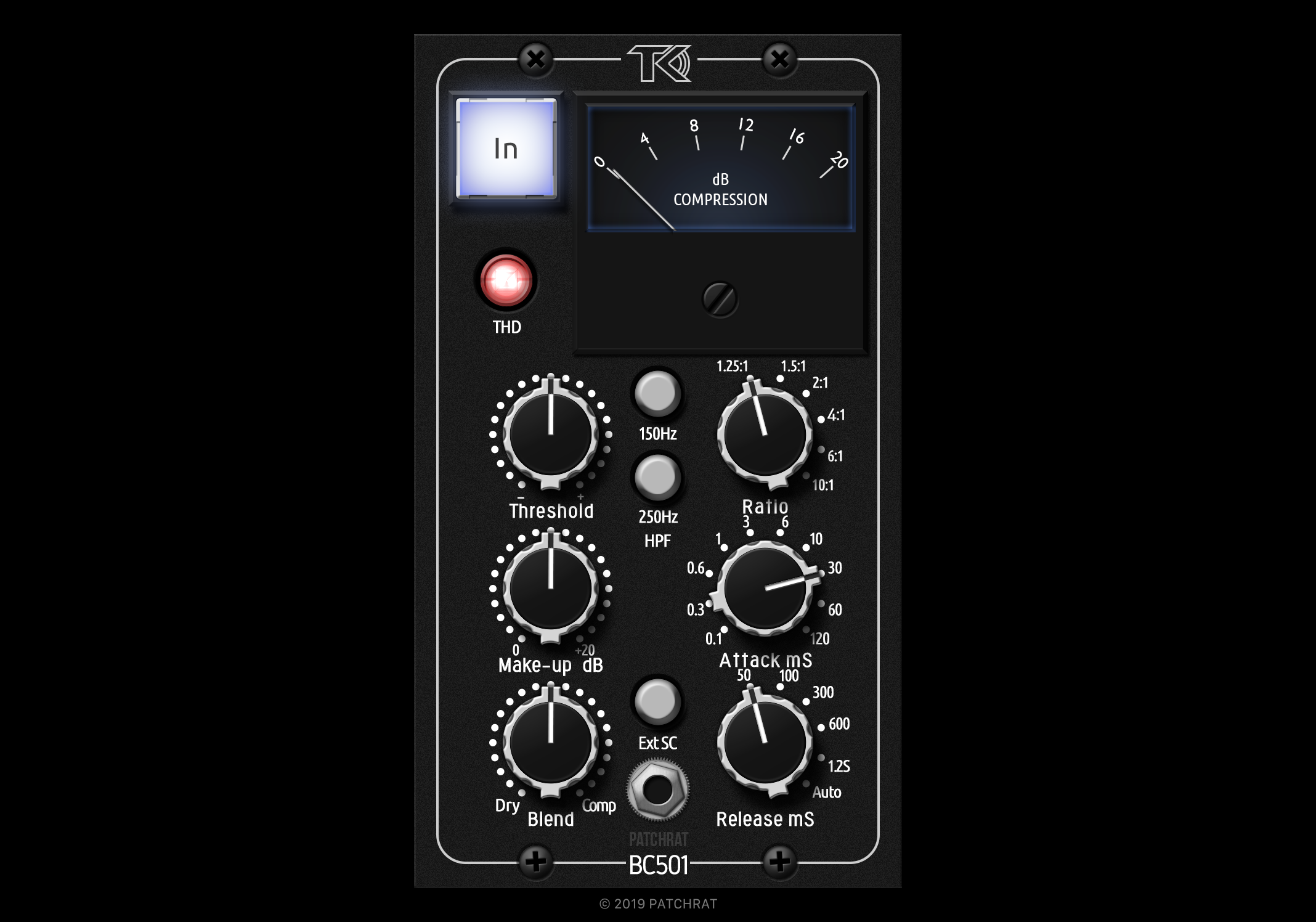TK Audio BC501 recall module for the Patchrat app